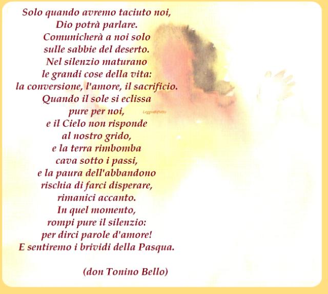 Preferenza Solo quando avremo taciuto - don Tonino Bello - leggoerifletto UD79