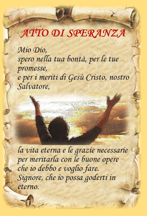 Preferenza Atto di Speranza (in italiano, latino) - leggoerifletto VT95