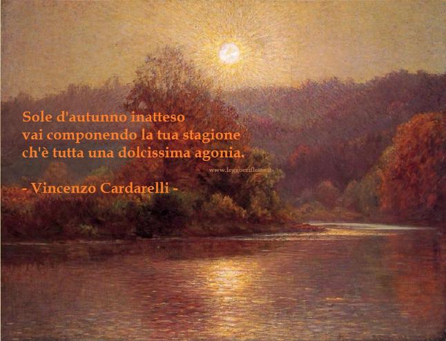 Sole Dautunno Vincenzo Cardarelli Leggoerifletto
